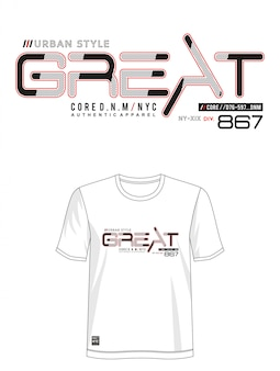 Отличная типография дизайн футболки