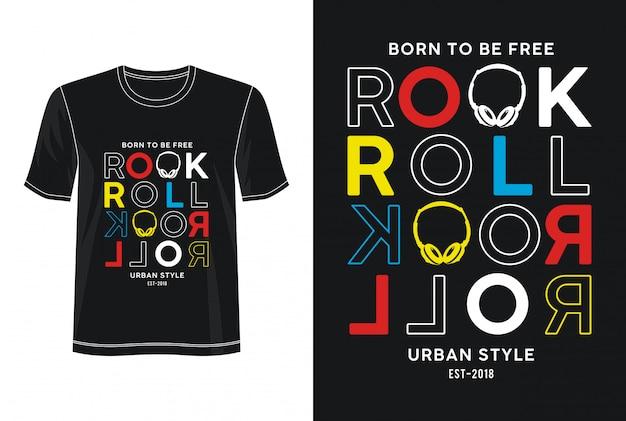 Будущее рок-н-ролл типография дизайн футболки