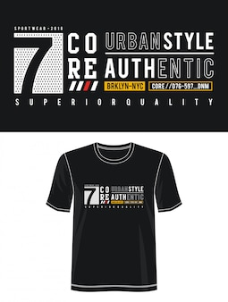 Городской стиль типография дизайн футболки