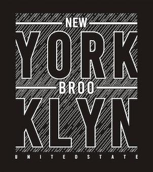ニューヨークブルックリンタイポグラフィ