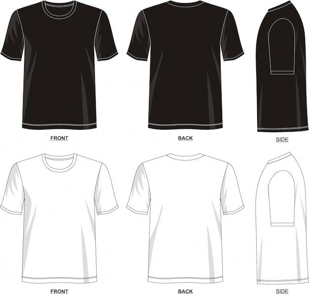 Шаблон футболки для мужчин
