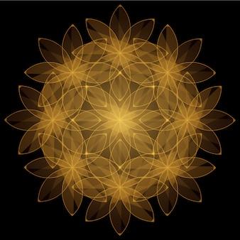 黄金の花の背景