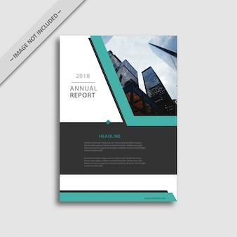 白と黒のビジネスパンフレット、ブルーの詳細