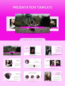 Женский шаблон презентационного буклета для магазина модной одежды