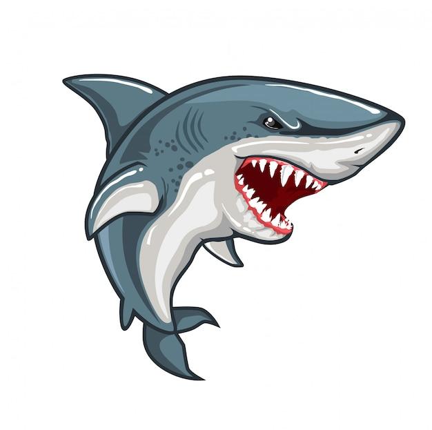 怒っているサメ