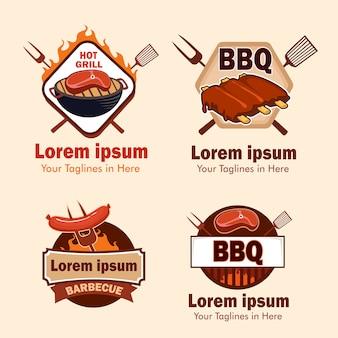 Барбекю мясо логотип