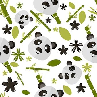 パンダのパターンの背景