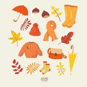 秋の自然なコレクション。