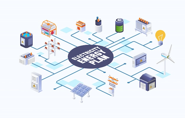 Схема источника и распределения электроэнергии