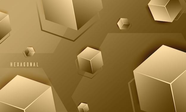 エレガントな六角形のテクスチャの抽象的な背景