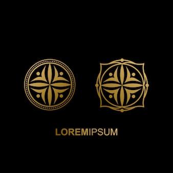 豪華な幾何学的なロゴデザイン