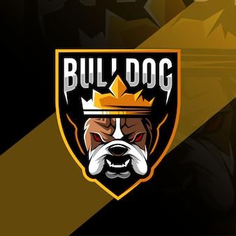 Бульдог талисман логотип