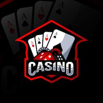 カジノのマスコットのロゴデザイン