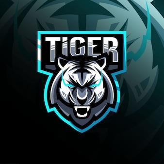 Тигр талисман логотип киберспорт