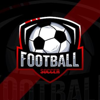 サッカーサッカーのロゴのデザインテンプレート