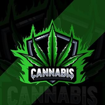 大麻マスコットのロゴデザイン