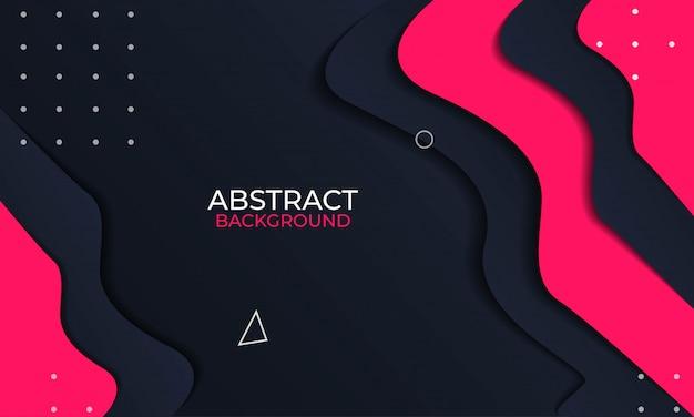 エレガントな黒と赤の組成の抽象的な背景
