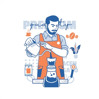 Бариста кофеварка