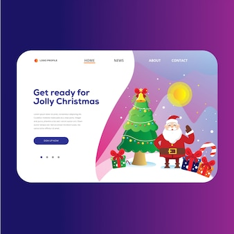 Рождественский шаблон посадочной страницы