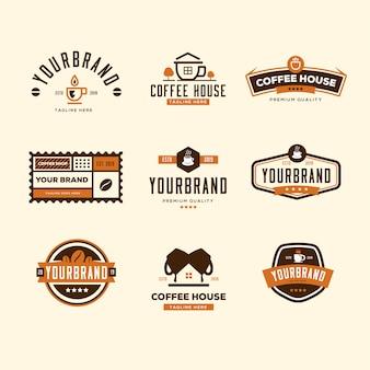 コーヒーショップのロゴコレクション
