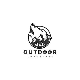 オオカミのロゴ