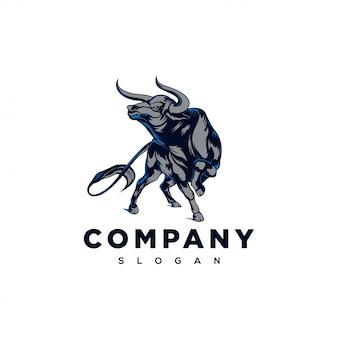 強い雄牛のロゴのインスピレーション