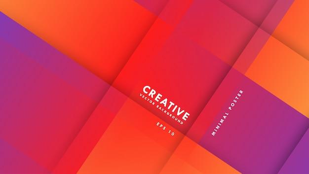 抽象的な紫とオレンジ色のベクトルの背景。勾配のある構図