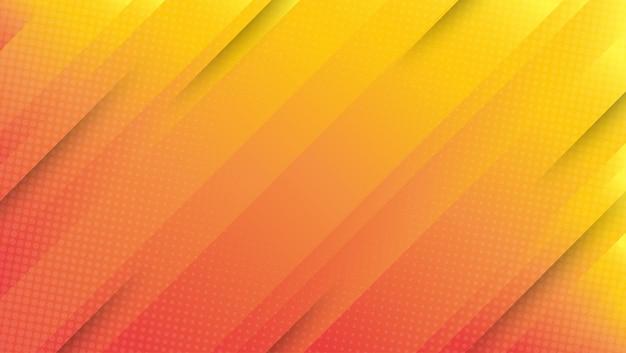 抽象的な現代的なグラデーションオレンジ黄色の曲線の背景