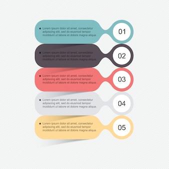 モダンなフラットビジネススタイルのインフォグラフィック要素のセット。