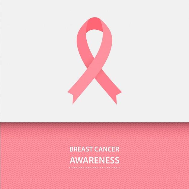 Месяц осведомленности рака молочной железы. розовая лента