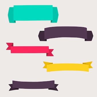 カラフルで装飾された紙のバナー