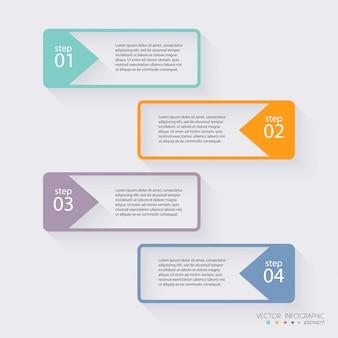 ビジネスプレゼンテーションのためのベクトルカラフルな情報グラフィック。