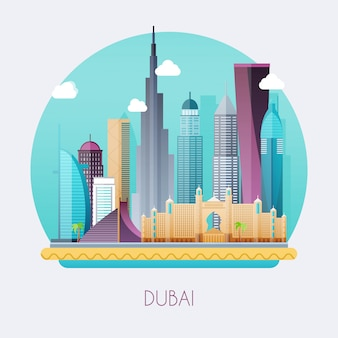 Дубай иллюстрация