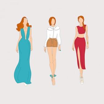 ファッションモデル。