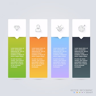 Векторные красочные инфографики для ваших бизнес-презентаций