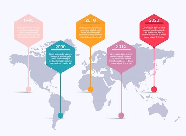Инфо графика для ваших бизнес презентаций. может использоваться для верстки сайта, пронумерованных баннеров, диаграммы, горизонтальных линий выреза, сети.