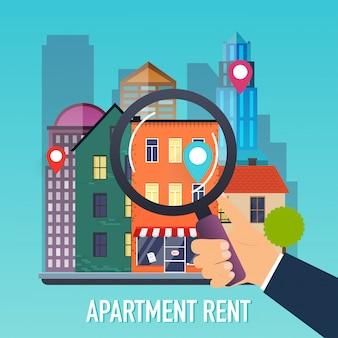 住宅購入者に鍵を与える不動産業者の手。購入住宅の提供、不動産の賃貸。モダンなイラストのコンセプトです。