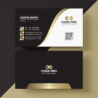 Черная и золотая визитная карточка