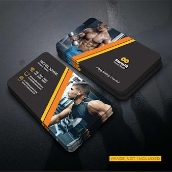 Шаблон визитки фитнес