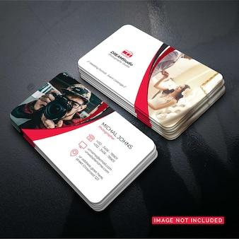 Фотограф визитная карточка вектор дизайн