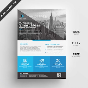 Дизайн бизнес флаера