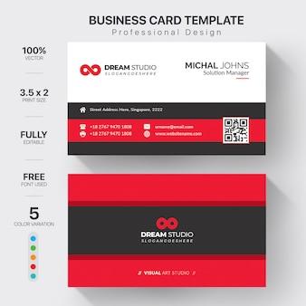 Элегантная красная визитная карточка