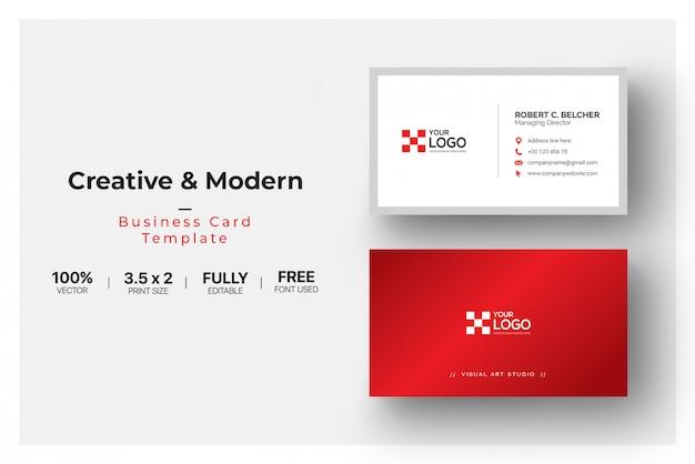 Шаблон визитной карточки абстрактный бизнес
