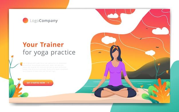 Шаблон веб-страницы тренера по йоге делать упражнения в шаблоне сайта открытой природы