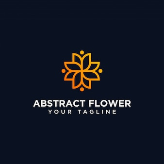 抽象的な花のロゴのデザインテンプレート