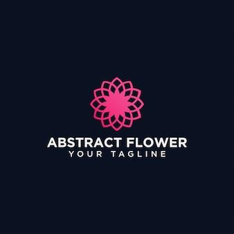 抽象的なサークル花ロゴデザインテンプレート