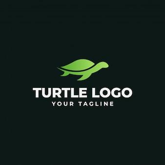 Шаблон логотипа черепаха