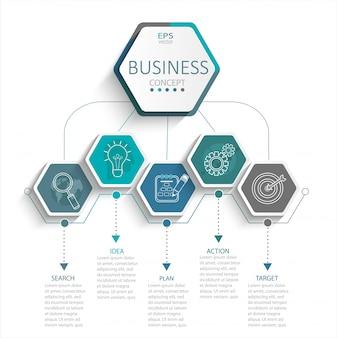 ビジネスのためのインフォグラフィック。