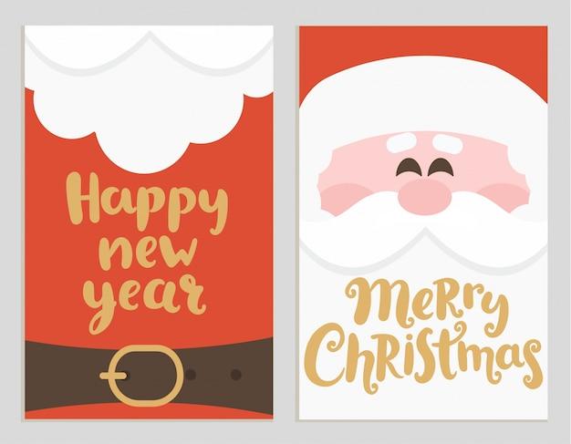 Плакаты сообщений санта-клауса на праздники.
