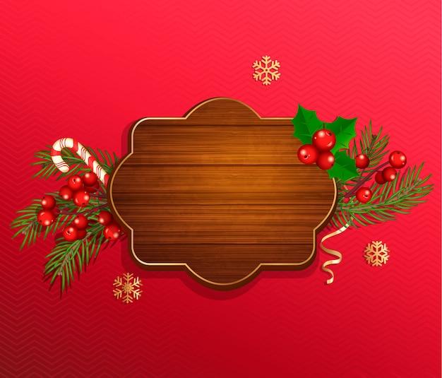 メリークリスマスと新年が望むテンプレート